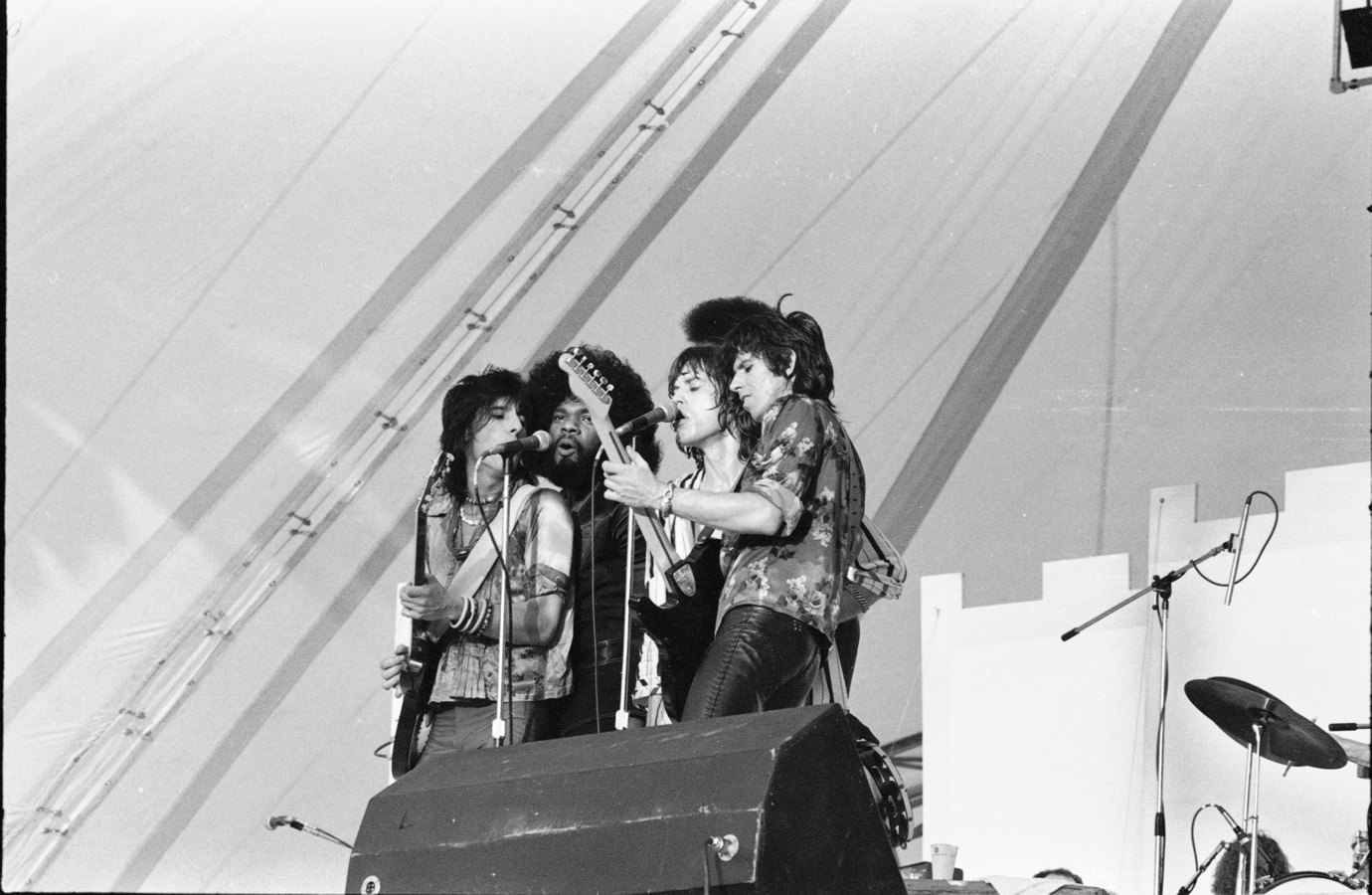 Ron Wood, the Late Billy Preston, Mick Jagger & Keith Richards.