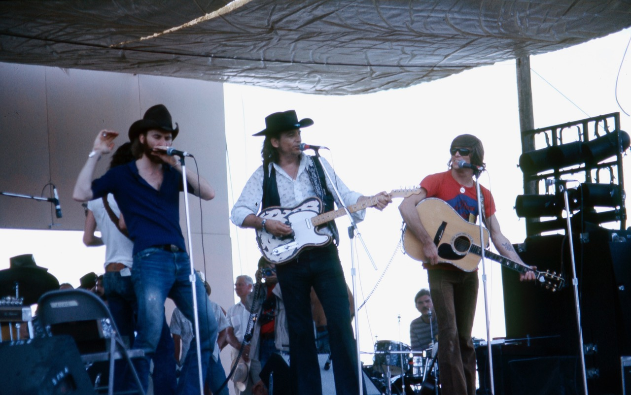 Waylon Jennings at Willie's 1st July 4th picnic in 1973.