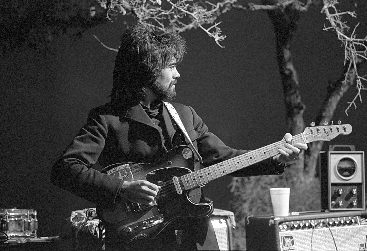 Marty Stuart Playing the late Clarence White of The Byrds 1954 Fender Telecaster String Bender, Kerrville TX May 24th,1982.