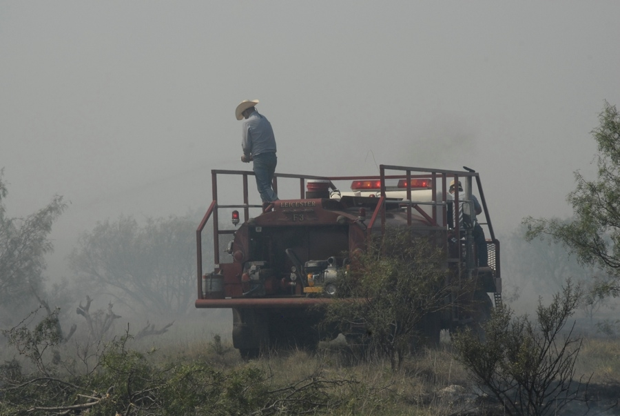 Fighting A Grassfire (TX).